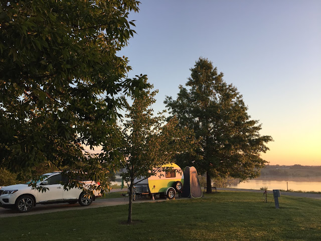 When tiny trailer and teardrop camping, it doesn't take a lot of money or equipment to enjoy a beautiful sunrise.