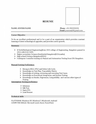 Mechanical Resume Format 1