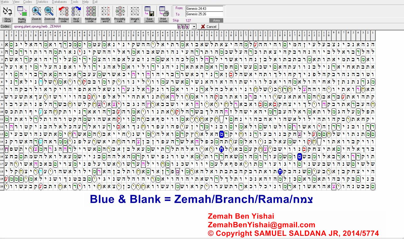 Jacob's Trouble, Blood Moons, Zemah, 2014, 2015, Torah Code