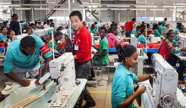 Apparel production officer in the floor