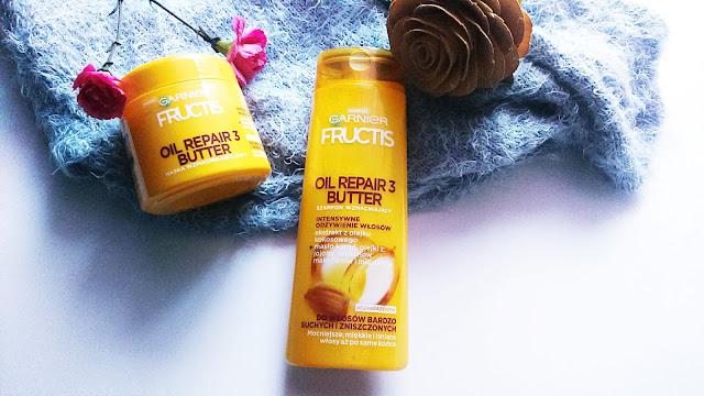 Fructis, Oil Repair 3 Butter Maska i szampon do włosów suchych i zniszczonych / Moja opinia/ Pielęgnacja włosów