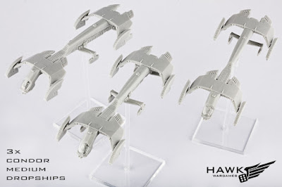 3x Condor Medium Dropships (now with clear canopy!)