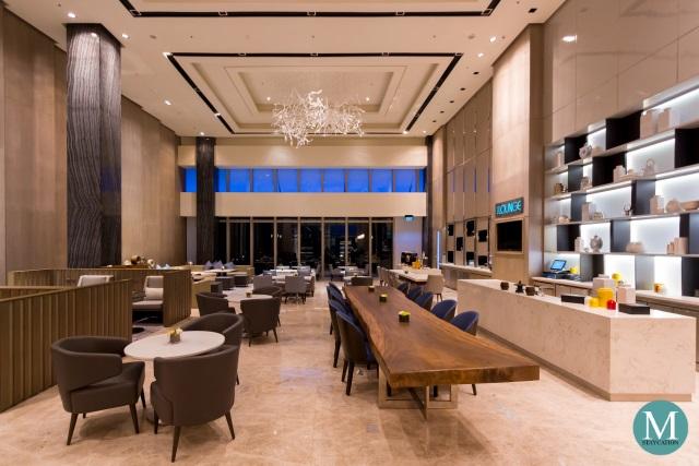Lobby of Clark Marriott Hotel