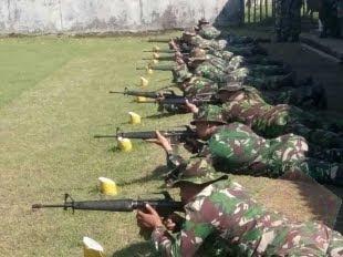 """Prajurit Kodim 0830 SU, """"Tingkatan Kemampuan Prajurit Dengan Latihan Menembak"""""""