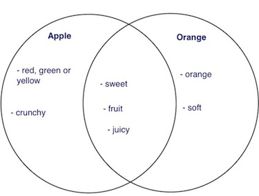 venn diagram apple and orange