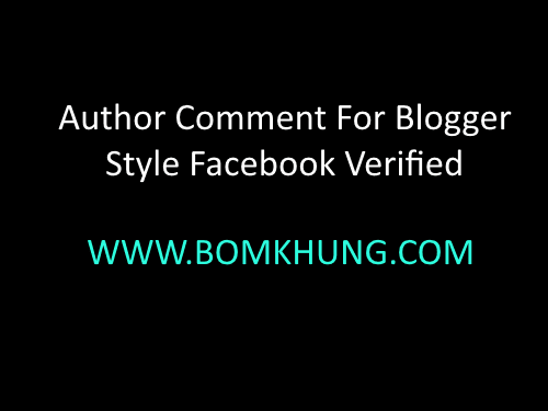 Author Comment Blogger Style Facebook Verified