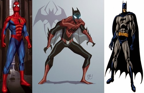 01-Spider-Man-and-Batman-comics-Eric-Guzman-Superhero-MashUp-www-designstack-co