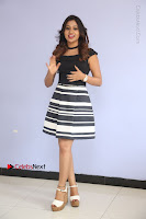 Actress Mi Rathod Pos Black Short Dress at Howrah Bridge Movie Press Meet  0100.JPG