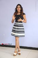 Actress Mi Rathod Pos Black Short Dress at Howrah Bridge Movie Press Meet  0100.JPG