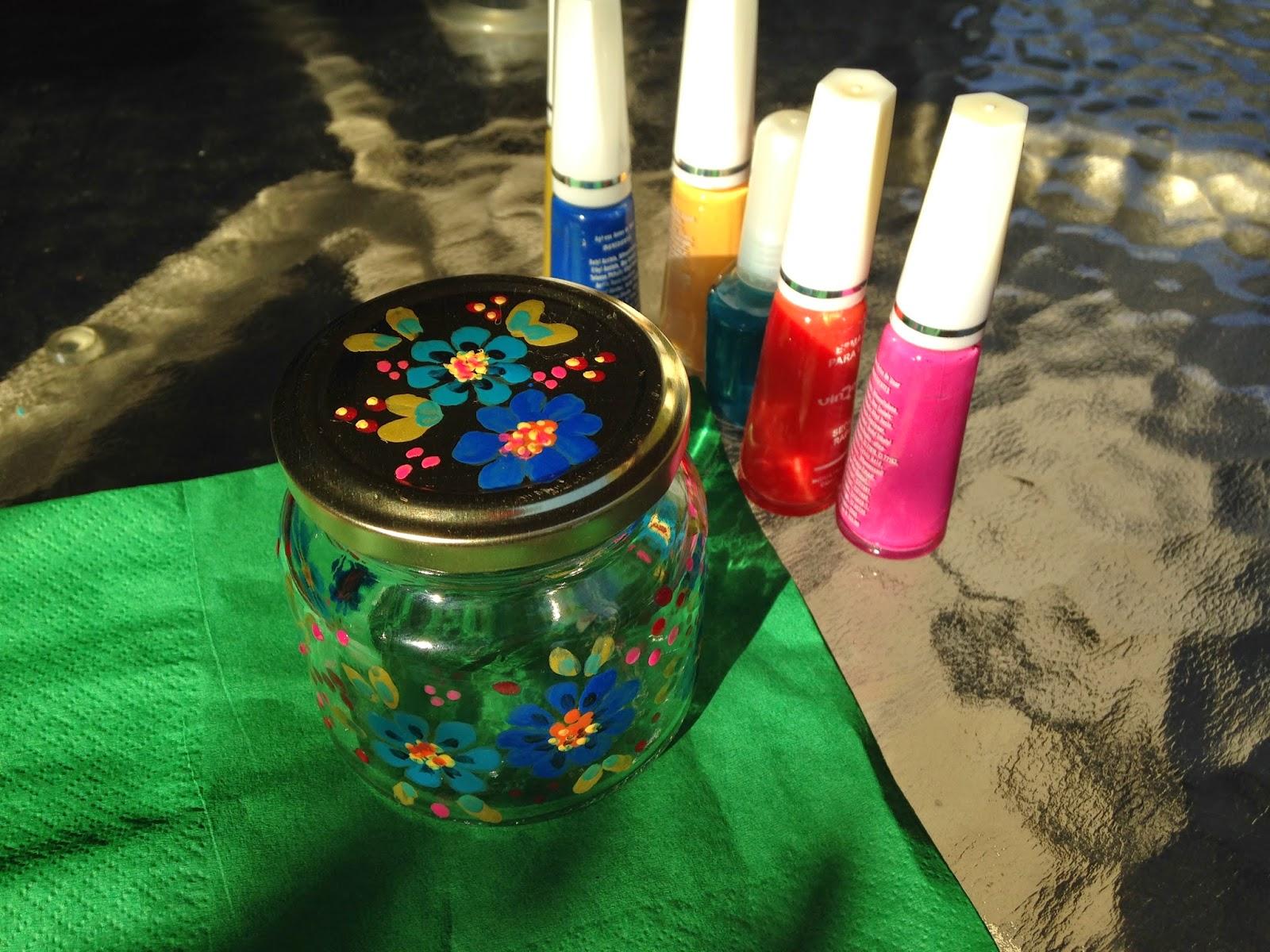 Tutorial Pintando Vidrio con Esmalte de Uñas ~ Disfruta Creando