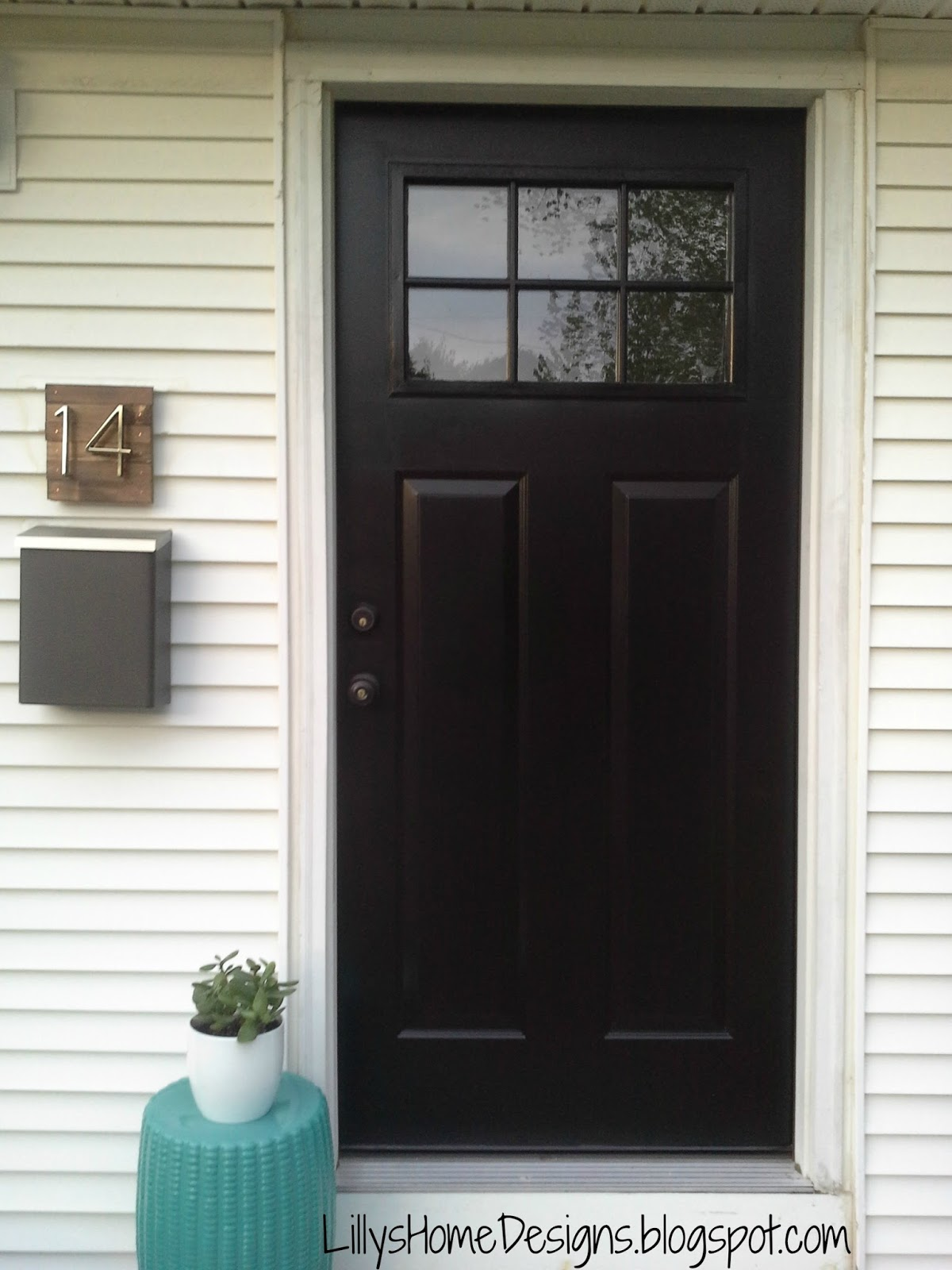 Lilly S Home Designs Front Door Makeover With Modern Masters