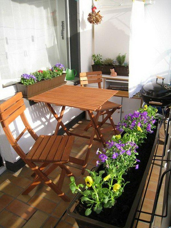 balkongestaltung. Black Bedroom Furniture Sets. Home Design Ideas