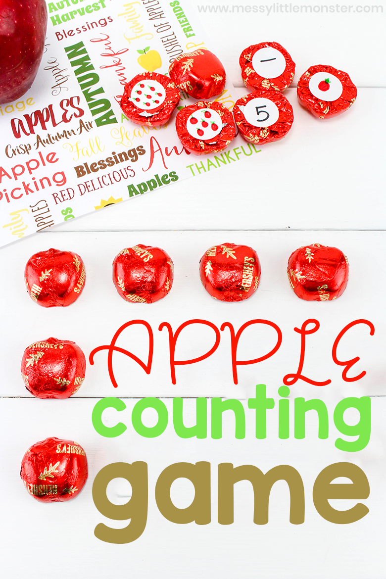 Apple Theme Counting Game - Math Activities for Preschoolers