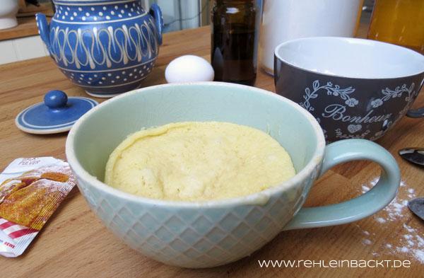 Tassenkuchen-Basisrezept mit und ohne Ei beziehungsweise vegan | Foodblog rehlein backt