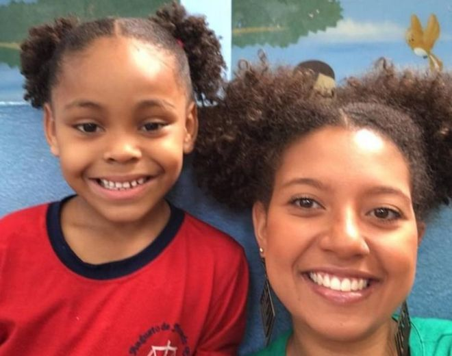 Brazil teacher changes hairstyle to support bullied girl