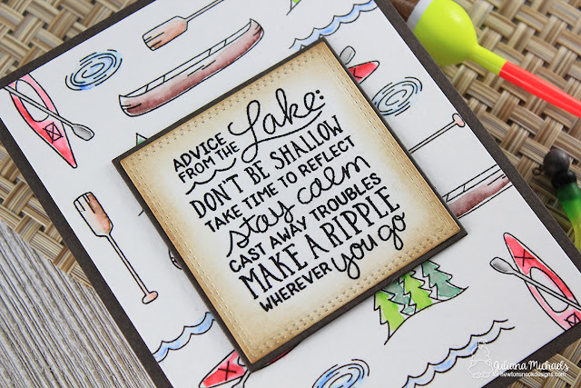 Lake Card by Juliana Michaels featuring Lake Advice Stamp Set by Newton's Nook Designs