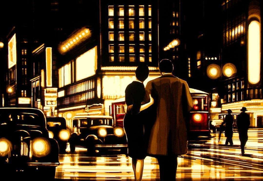 08-New-York-Times-Square-Max-Zorn-Film-Noir-and-Vintage-Packing-Tape-Art-www-designstack-co