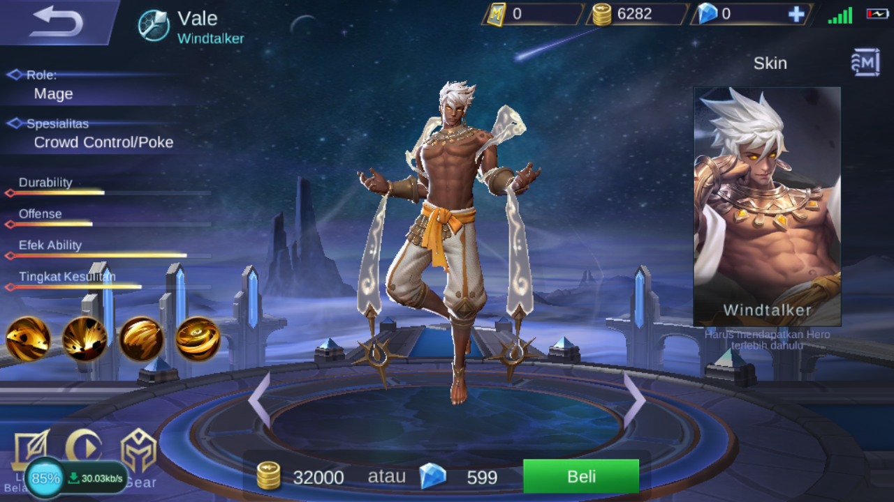 Build Item Vale Mobile Legends Pengendali Angin Saudara