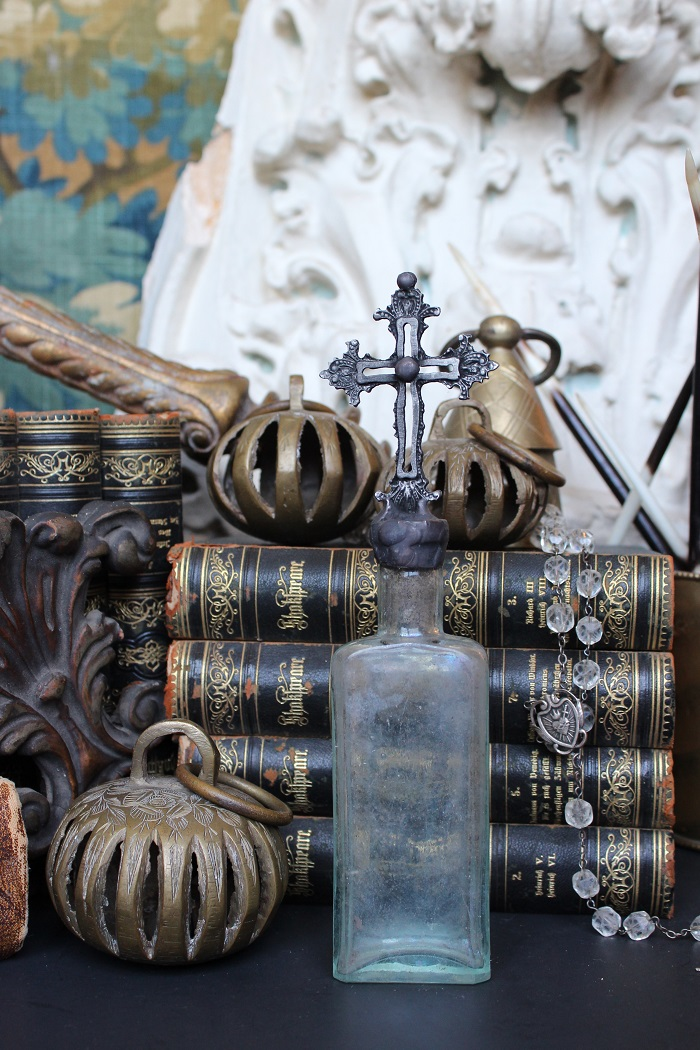 cross bottles vintage cross bottle antique cross bottles antique vintage cross bottles crossbottleguy cross bottle art crystal cross topped bottles antique rosary rosary topped bottles altered bottles bohemian decor luxury interior design decor housewares antique reliquary objects soldered bottles old bottles hazy bottles antique bottle hand dug bottle open fretwork metal work handmade art artist original cross bottle