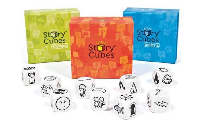 juego story cubes inventar historias niños llevar maleta verano vacaciones recomendados