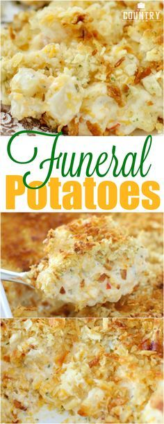 Comfort Food  When you say you are making 'Funeral Potatoes' most folks know exactly what you are talking about. They are pure comfort food and that's how they got the name. Often when someone passes, we all just want to do something for those who are grieving. Most of the time we just don't know what to do other than pray and be there, right? Maybe help clean their house, do some laundry and make sure they have all the food they need. And this is one of those foods that many folks have made in a time of need.