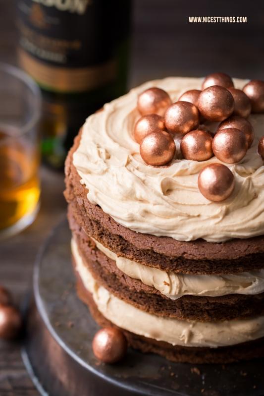Whiskey Torte mit WhiskySchokoladenKuchen und Karamell