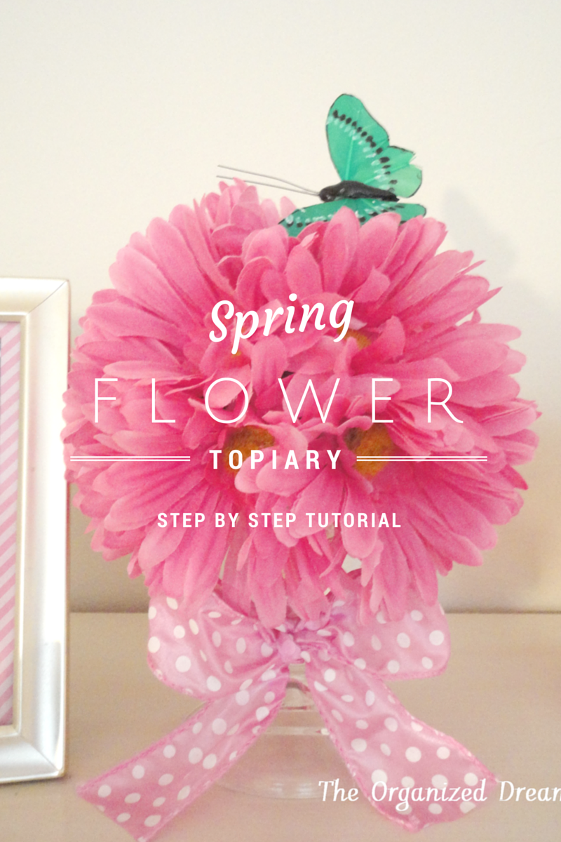 spring flower topiary tutorial
