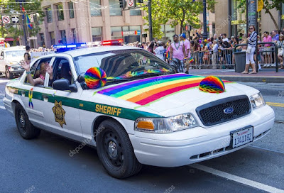 Police car, San Francisco Gay Pride