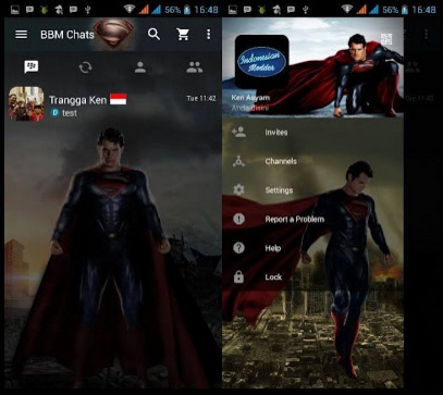 BBM Mod Man Of Steel Versi 2.12.0.11 apk