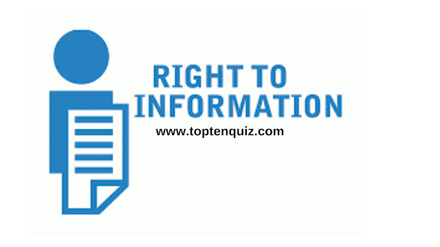 MCQ on Central Information Commission and RTI Act