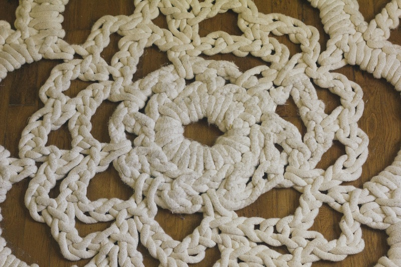 Always Rooney How I Made My Own Giant Doily Rug Pattern
