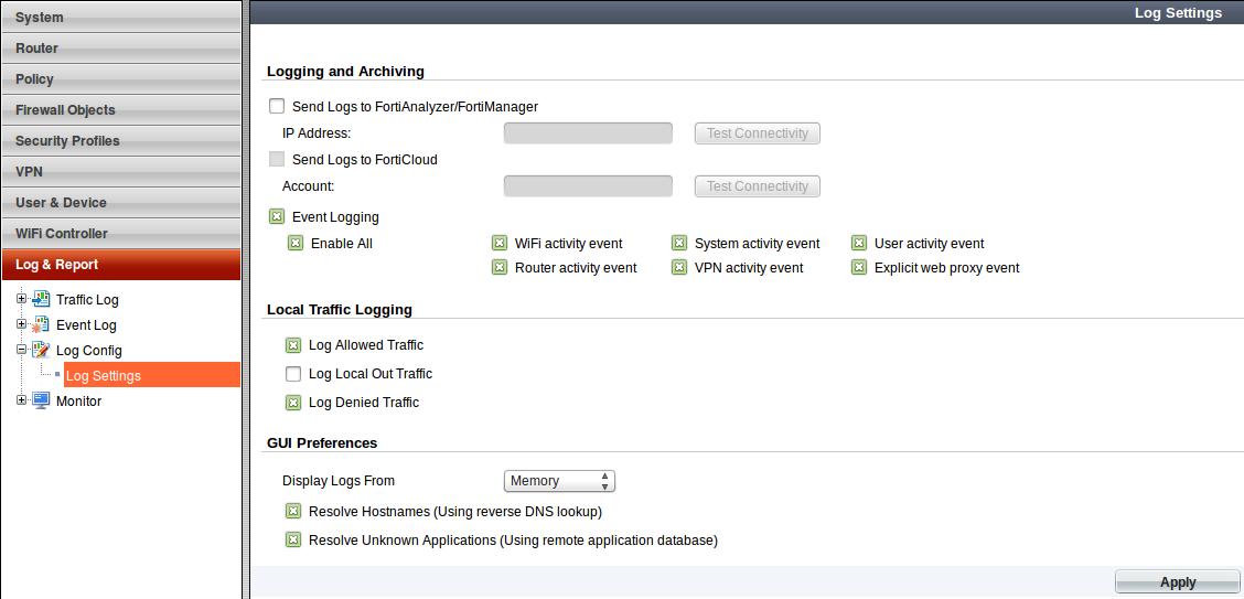 Al's Tech Corner: How-to: Enable disk logging on a FortiGate