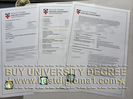 University of London diploma supplement