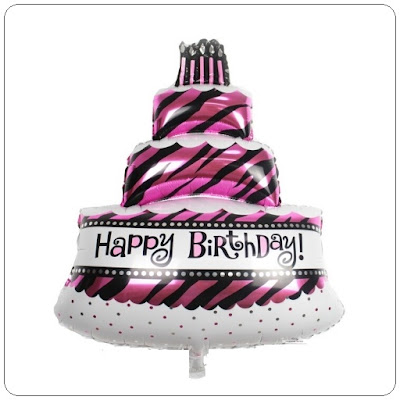 Balon Foil Happy Birthday Cake Tart Mini
