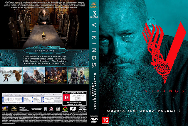 Capa DVD Vikings Quarta Temporada Volume 2 [Exclusiva]