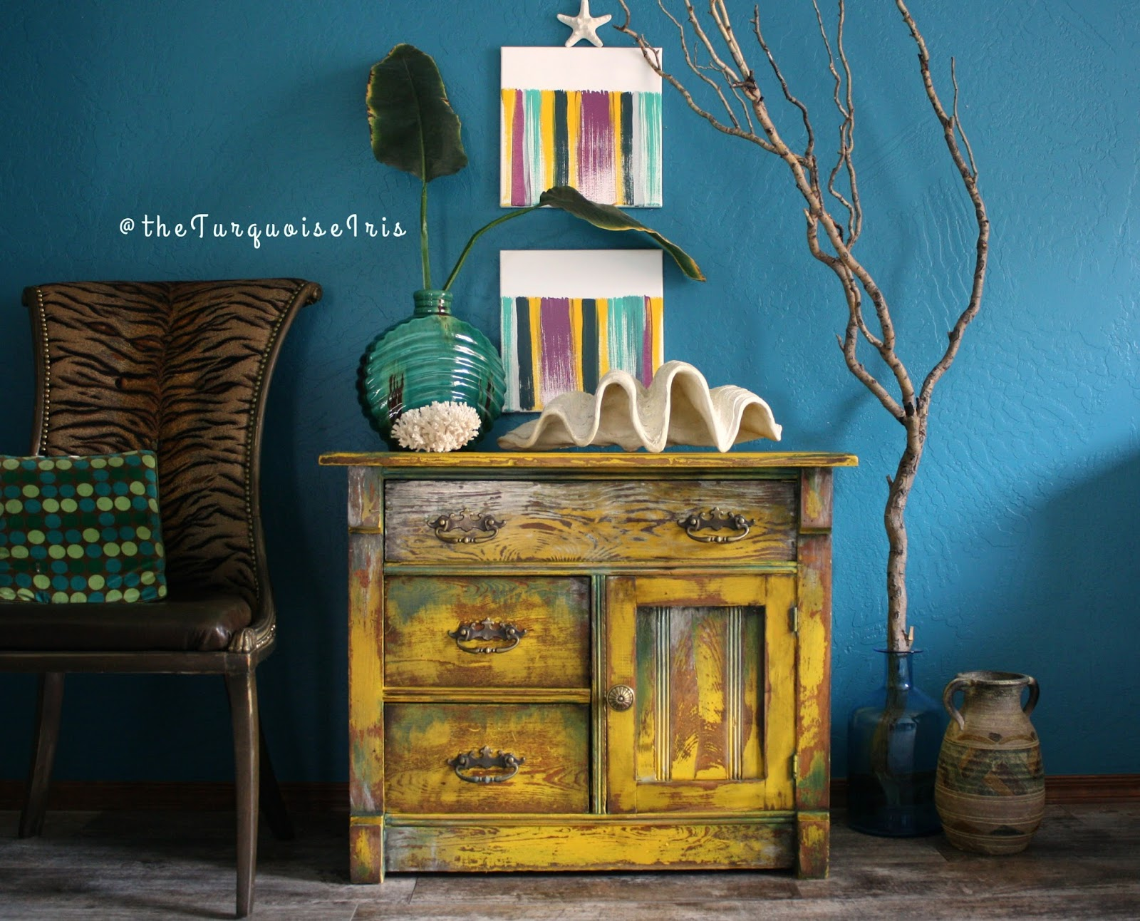 Hand Painted Mustard Yellow Accent Table Makeover You Don T Want To Miss