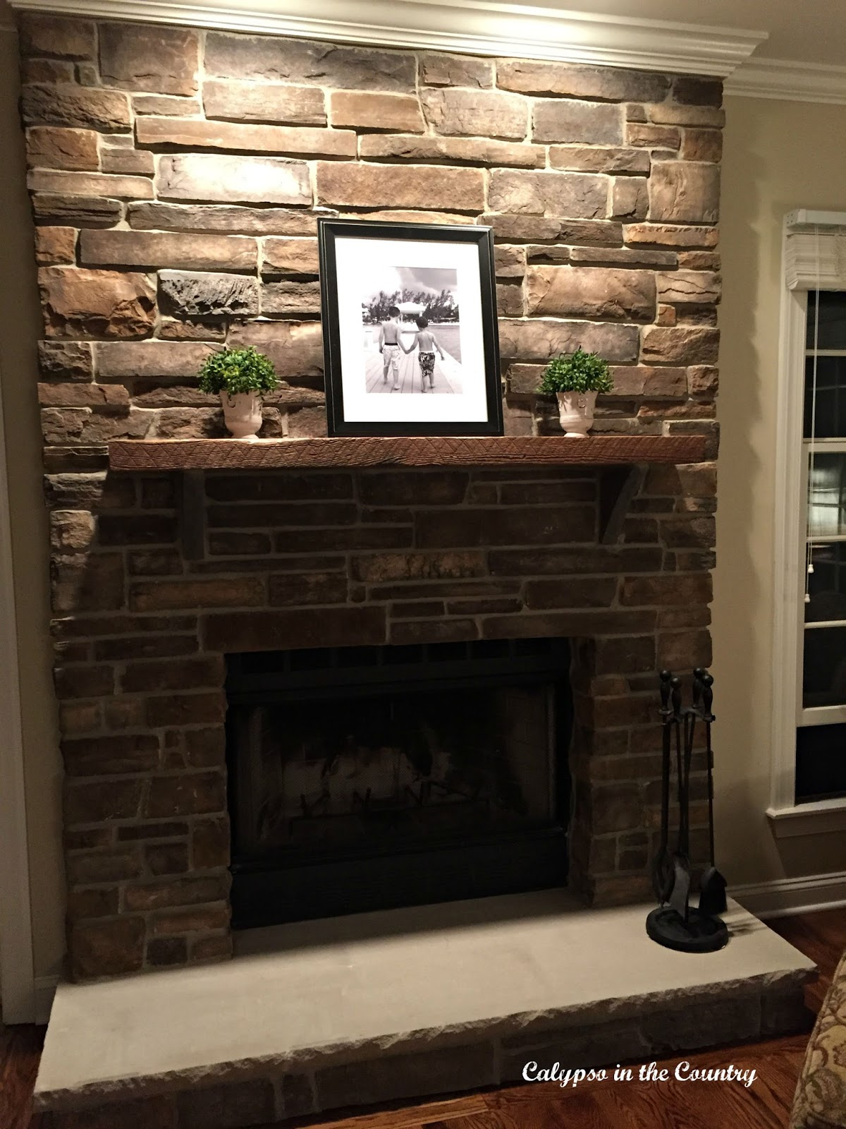 Custom Fireplace With Country Ledge Stone Rick - Country Stone ...
