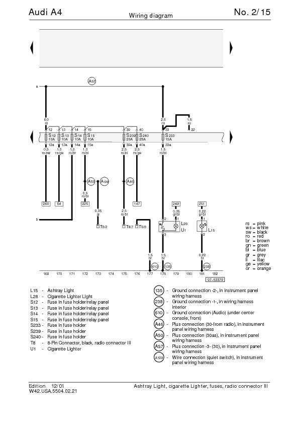 The Audi A4 Complete Wiring Diagrams | Schematic Wiring