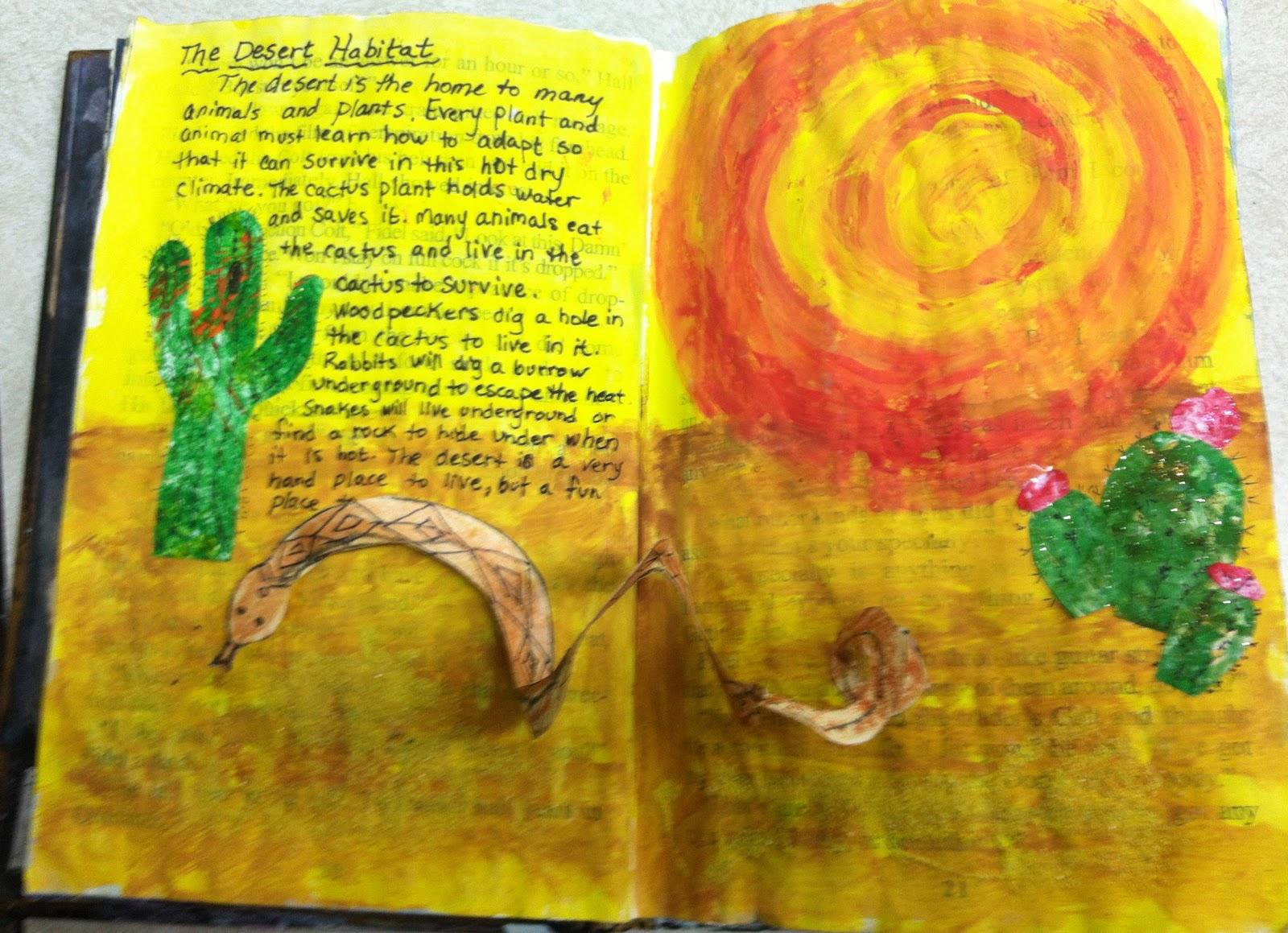 Art At East Union And More 2nd Grade Desert Habitat
