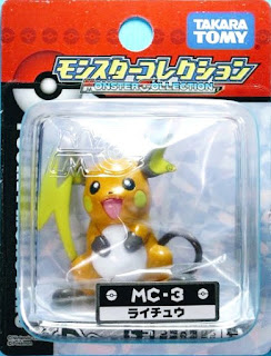 Raichu figure new pose Takara Tomy Monster Collection MC series