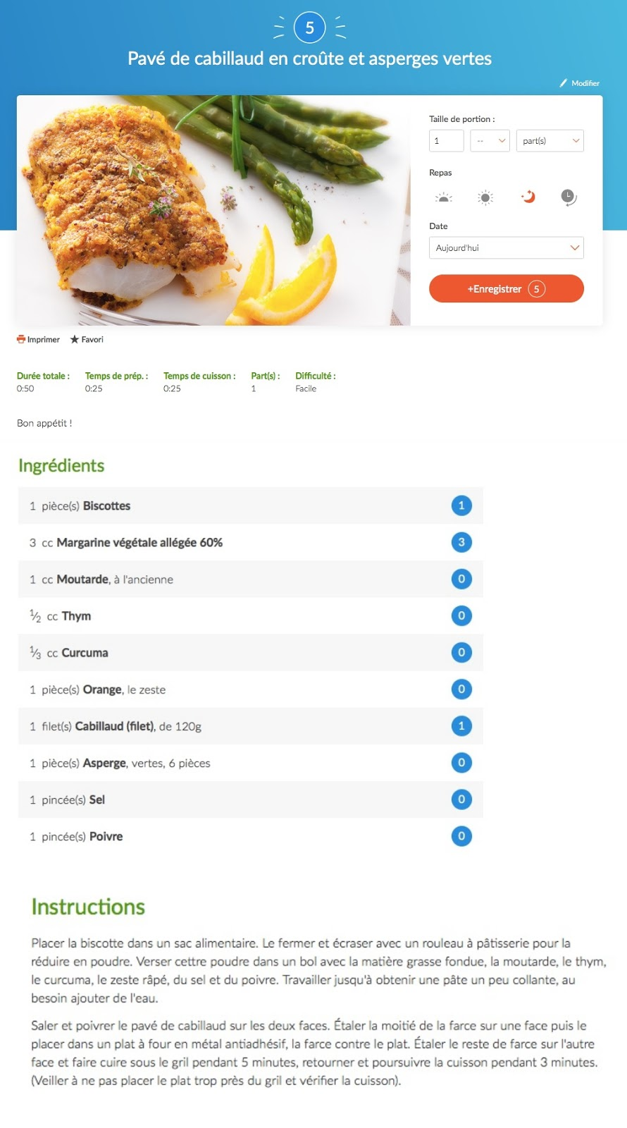 exemple recette weight watchers