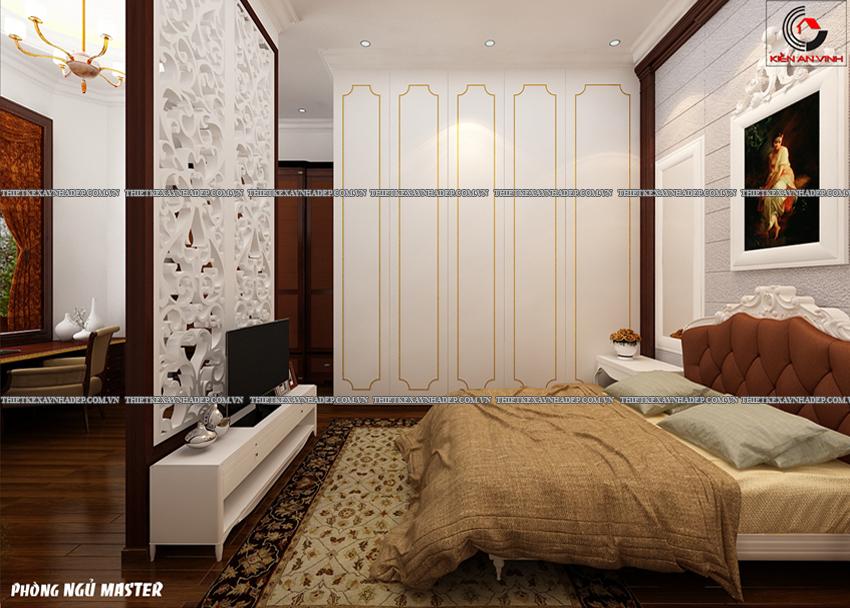 Mẫu thiết kế biệt thự nhà vườn 1 tầng đẹp hiện đại dt 150m2 Phong-ngu-master-2