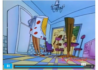 Does Cow and Chicken parents half torso reveal