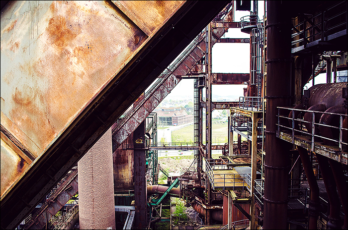 Skywalk Phönix West Dortmund, Hochofenbesteigung auf 80m Höhe, Stadtkernobst, Industriekultur,