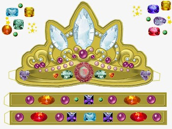 Crowns and Tiaras. Free Printables and Templates.