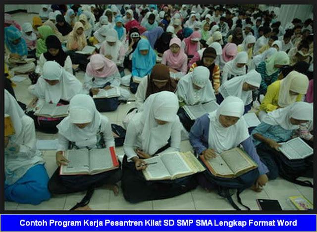 Contoh Program Kerja Pesantren Kilat SD SMP SMA Lengkap Format Word