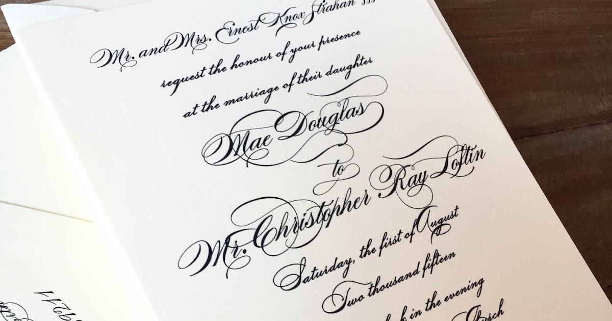 Wedding Invitations Jackson Ms: Douglas Strahan And Chris Loftin Wedding Invitations
