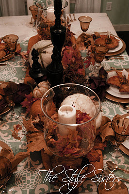 Fall dining room tablescape, Thanksgiving