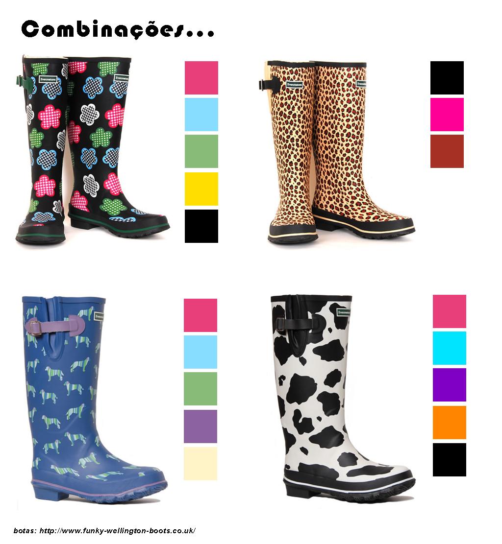 8b989dcff Estou procurando umas galochas para a família poder andar na chácara em  dias chuvosos, mas acabei adicionando botas que achei interessantes e um  look que eu ...