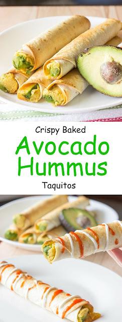 Crunchy Avocado Hummus Taquitos Recipe